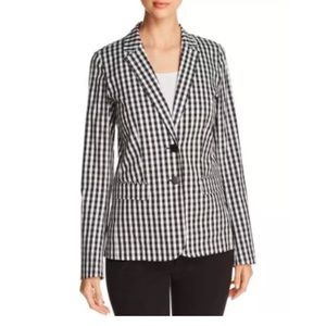 Lafayette 148 Vangie Gingham Checkered Blazer